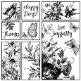 HAPPY DAYS Puzzle Style Cling Mount Stamp Set from Magenta