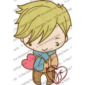 HEART IAN Rubber Stamp Anya & Ian Collection from The Greeting Farm