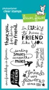 HELLO FRIEND Clear Stamp Set from Lawn Fawn