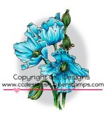 HIMILAYAN POPPY Rubber Stamp DoveArt Studio Collection from C.C. Designs
