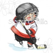 New! HOCKEY Rubber Stamp by Mo Manning from Stamping Bella