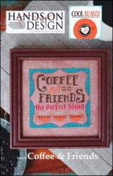 Cool Beans Series - COFFEE & FRIENDS Cross Stitch Pattern by Hands on Design