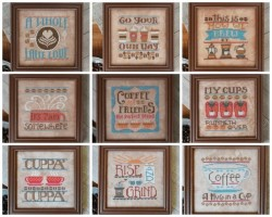 Cool Beans Series - COMPLETE SERIES - Set of 9 Cross Stitch Patterns by Hands on Design