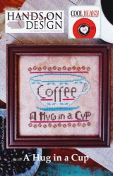 Cool Beans Series - A HUG IN A CUP Cross Stitch Pattern by Hands on Design