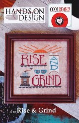 Cool Beans Series - RISE & GRIND Cross Stitch Pattern by Hands on Design