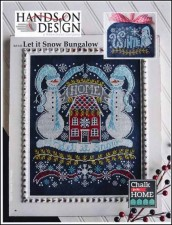 Chalk for the Home Series - LET IT SNOW BUNGALOW Cross Stitch pattern from Hands On Design