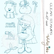 **REORDER** HOLLY JOLLY CHRISTMAS Clear Stamp Set from Tiddly Inks