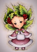 HOLLY SPRITE Rubber Stamp Aurora Wings Mitzi Sato-Wiuff Collection from Sweet Pea Stamps