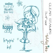 HOPPING BY Clear Stamp Set from Tiddly Inks