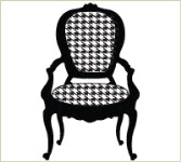 HOUNDSTOOTH CHAIR Lizzie Anne Designs from Gourmet Rubber Stamps
