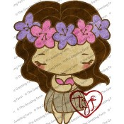 HULA ANYA Rubber Stamp Anya & Ian Collection from The Greeting Farm