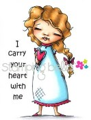 I CARRY YOUR HEART WITH ME Cling Mounted Rubber Stamp Diane Duda Collection from Stamping Bella