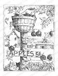 APPLES Cling Mounted Rubber Stamp by Gary Robertson from Impression Obsession
