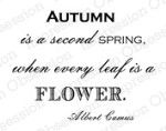 AUTUMN QUOTE Sentiment Cling Mounted Rubber Stamp by Montagerie from Impression Obsession