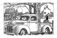 CLASSIC TRUCK Cling Mounted Rubber Stamp by Gary Robertson from Impression Obsession