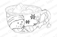 MARSHMALLOW MUG Cling Mounted Rubber Stamp by Alesa Baker from Impression Obsession