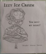IZZY ICE CREAM Rubber Stamp Moonlight Whispers by Annie Rodrique from Kraftin Kimmie Stamps