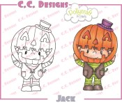 JACK Rubber Stamp from Pollycraft
