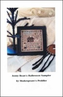 JENNY BEAN'S HALLOWEEN SAMPLER Cross Stitch Pattern from Shakespeare's Peddler