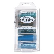 FRANTAGE ENCRUSTED JEWEL KIT TEAL from Stampendous