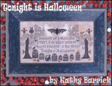 TONIGHT IS HALLOWEEN Cross Stitch Pattern from Kathy Barrick