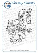 GROOVE DUDE Rubber Stamp KennyK Rock Squad Series from Whimsy Stamps