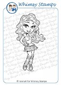 FRESHMAN Rubber Stamp KennyK Glam Gang Collection from Whimsy Stamps