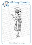SOCIALITE Rubber Stamp KennyK Retro Collection from Whimsy Stamps
