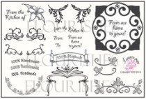 FANCY LABELS Clear Stamp Set from Flourishes