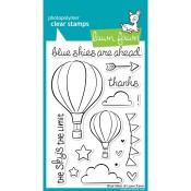 BLUE SKIES Clear Stamp Set from Lawn Fawn