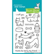 CRITTERS AT THE DOG PARK Clear Stamp Set from Lawn Fawn