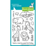 CRITTERS ON THE SAVANNA Clear Stamp Set from Lawn Fawn