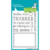 A GOOD APPLE Clear Stamp Set from Lawn Fawn