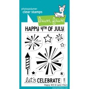 HAPPY 4TH Clear Stamp from Lawn Fawn Stamps