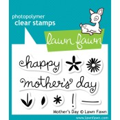 MOTHER'S DAY Clear Stamp Set from Lawn Fawn