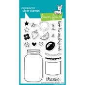 SUMMERTIME CHARM Clear Stamp Set from Lawn Fawn