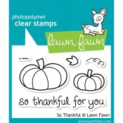 SO THANKFUL Clear Stamp Set from Lawn Fawn