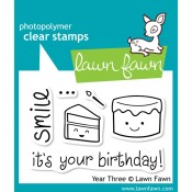 YEAR THREE Clear Stamp Set from Lawn Fawn