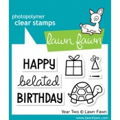 YEAR TWO Clear Stamp Set from Lawn Fawn