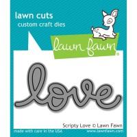 SCRIPTY LOVE Lawn Cuts Die from Lawn Fawn