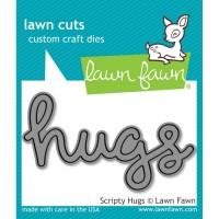 SCRIPTY HUGS Lawn Cuts Die from Lawn Fawn