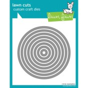 CIRCLE STACKABLES Lawn Cuts Custom Craft Dies from Lawn Fawn