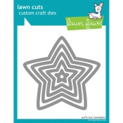 PUFFY STAR STACKABLES Lawn Cuts Custom Craft Dies from Lawn Fawn