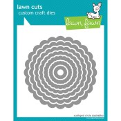 SCALLOPED CIRCLE STACKABLES Lawn Cuts Custom Craft Dies from Lawn Fawn