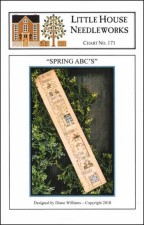 SPRING ABC's Cross Stitch Pattern from Little House Needleworks