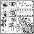 LIFE IS BEAUTIFUL Puzzle Style Cling Mount Stamp Set from Magenta