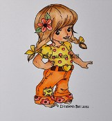**PREORDER** LIL POLLY Rubber Stamp Elisabeth Bell Designs from Sweet Pea Stamps