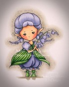 LILY OF THE VALLEY SPRITE Rubber Stamp Aurora Wings Mitzi Sato-Wiuff Collection from Sweet Pea Stamps