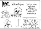 LINGERIE SHOPPE Stamp Set Window Shoppes Collection from Art Impressions