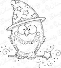 LITTLE WIZARD OWL Rubber Stamp Meljen's Designs Collection from Whimsy Stamps
